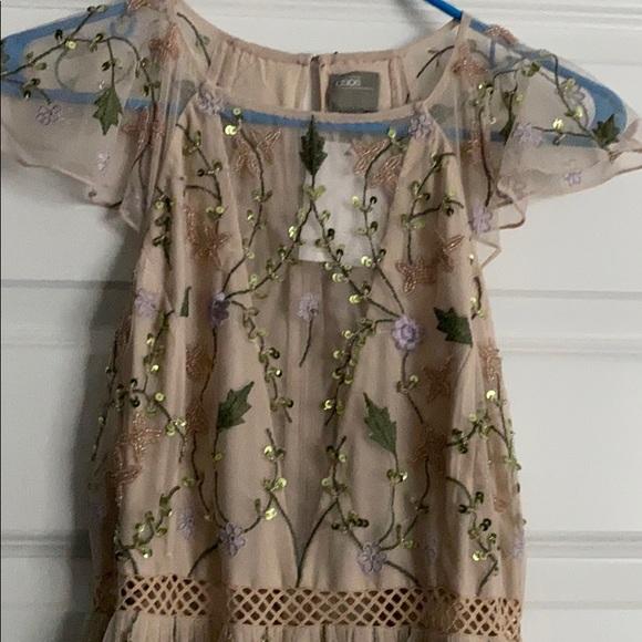 ASOS Design Petite Embroidered Floral dress